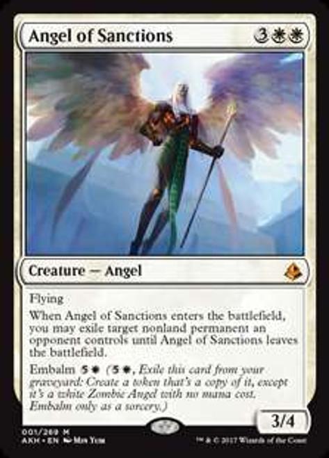 MtG Amonkhet Mythic Rare Angel of Sanctions #1