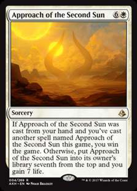 MtG Amonkhet Rare Approach of the Second Sun #4