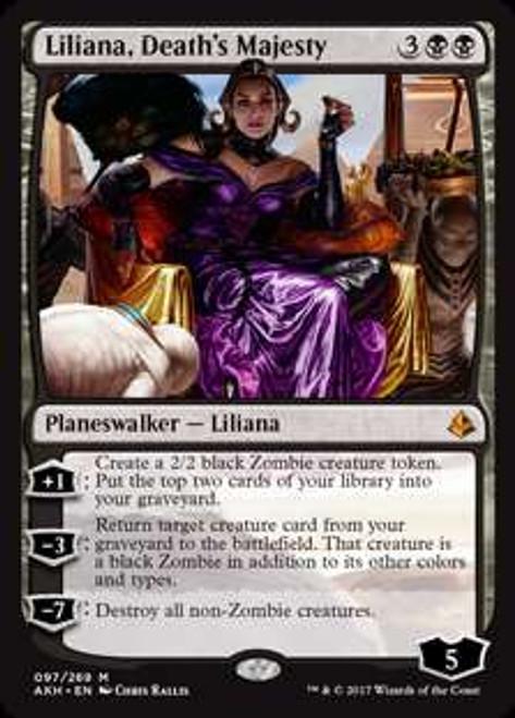 MtG Amonkhet Mythic Rare Liliana, Death's Majesty #97