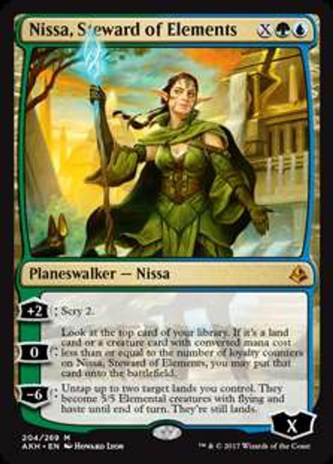 MtG Amonkhet Mythic Rare Nissa, Steward of Elements #204