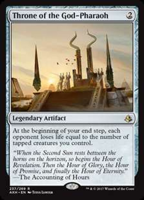 MtG Amonkhet Rare Throne of the God-Pharaoh #237