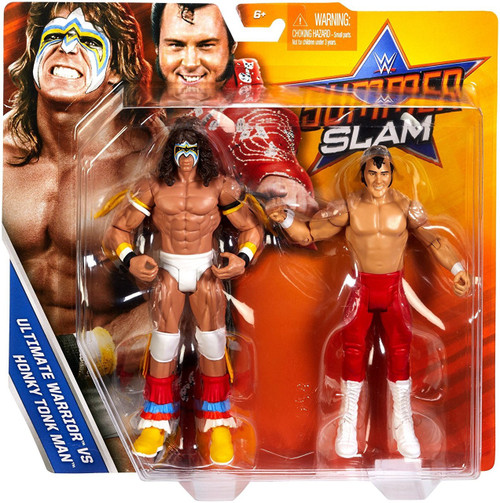 WWE Wrestling Battle Pack Summer Slam 2017 Ultimate Warrior & Honky Tonk Man Action Figure 2-Pack