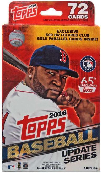 MLB Topps 2016 Update Baseball Trading Card HANGER Box [72 Cards!]