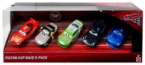 Disney / Pixar Cars Cars 3 Spokes, McQueen, Yardley, Swervez & Storm Diecast Car 5-Pack [Piston Cup Race]