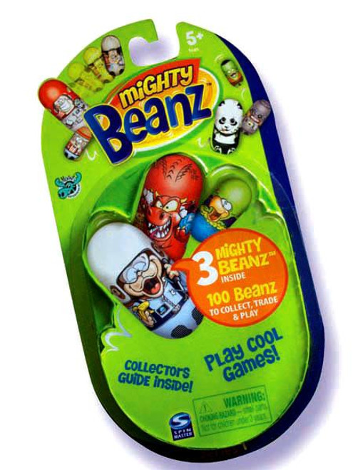 Mighty Beanz New Series 1 Booster Pack [3 Beanz]