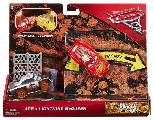Disney / Pixar Cars Cars 3 Crazy 8 Crashers APB & Lightning McQueen Vehicle 2-Pack