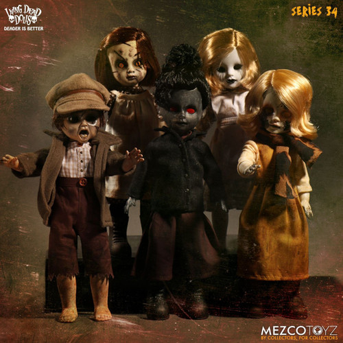 Living Dead Dolls Series 34 Set of 5 Dolls