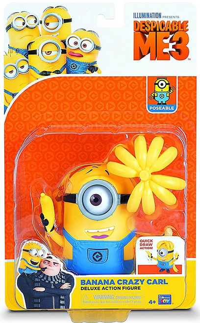 Despicable Me 3 Banana Crazy Carl Deluxe Action Figure