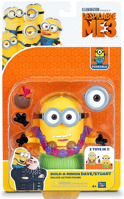 Despicable Me 3 Build-a-Minion Dave / Stuart Deluxe Action Figure