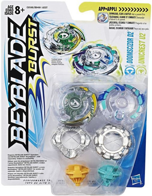 Beyblade Burst Doomscizor D2 & Unicrest U2 Dual Pack