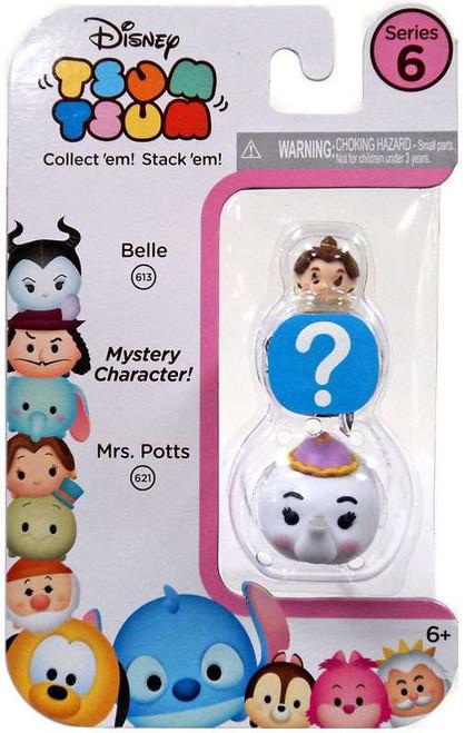 Disney Tsum Tsum Series 6 Belle & Mrs. Potts 1-Inch Minifigure 3-Pack #613 & 621