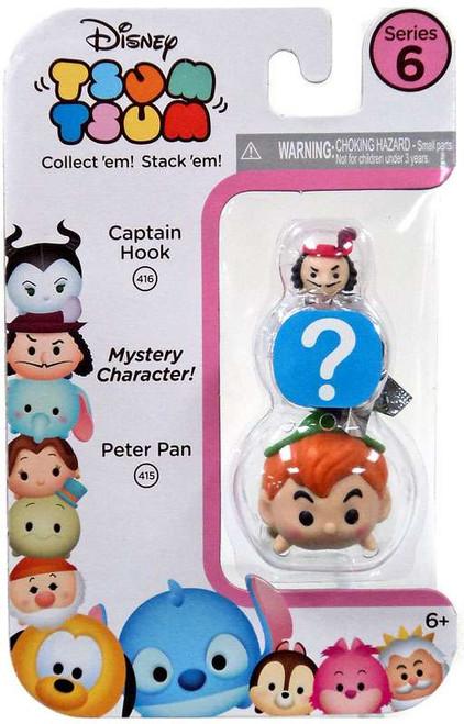 Disney Tsum Tsum Series 6 Captain Hook & Peter Pan 1-Inch Minifigure 3-Pack #416 & 415