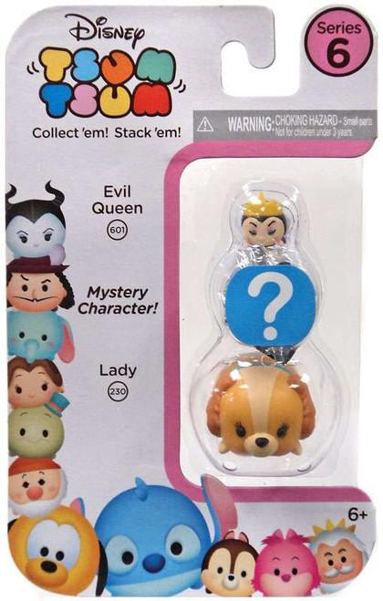 Disney Tsum Tsum Series 6 Evil Queen & Lady 1-Inch Minifigure 3-Pack #602 & 230