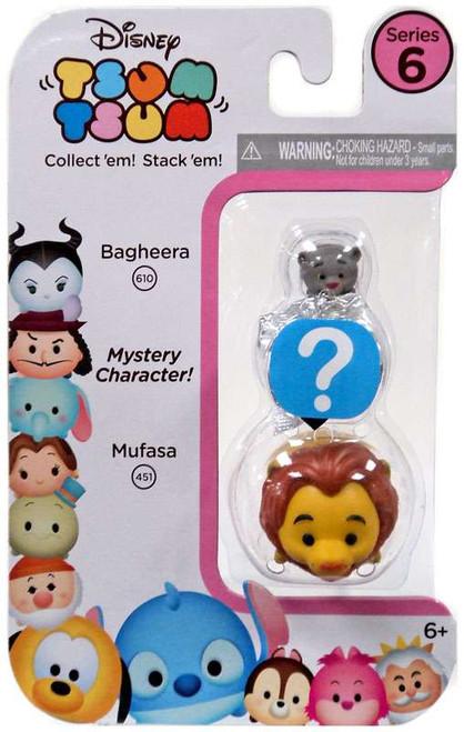 Disney Tsum Tsum Series 6 Bagheera & Mufasa 1-Inch Minifigure 3-Pack #610 & 451