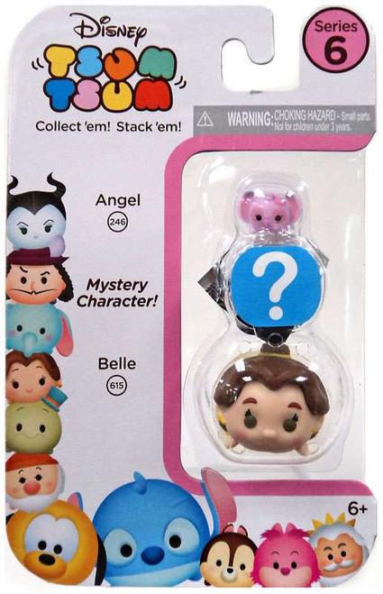 Disney Tsum Tsum Series 6 Angel & Belle 1-Inch Minifigure 3-Pack #246 & 615