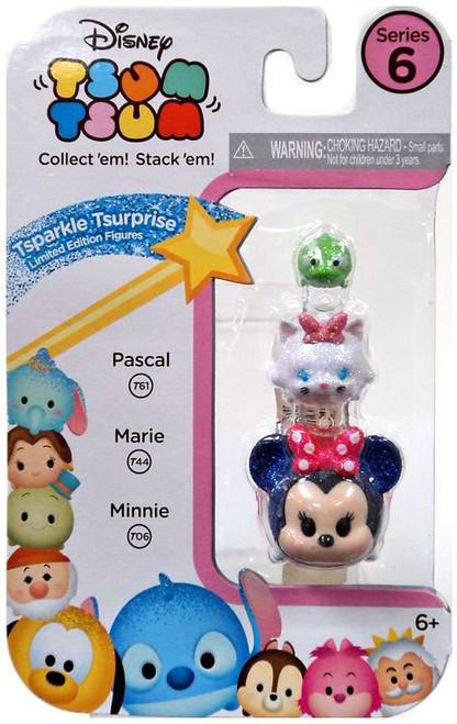Disney Tsum Tsum Series 6 Tsparkle Tsurprise Pascal, Marie & Minnie 1-Inch Minifigure 3-Pack T61, T44 & T06