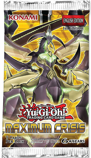 YuGiOh Trading Card Game Maximum Crisis Booster Pack