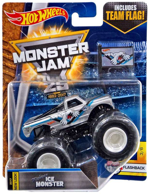 Hot Wheels Monster Jam 25 Michigan Ice Monster Die-Cast Car #3/6 [Flashback]