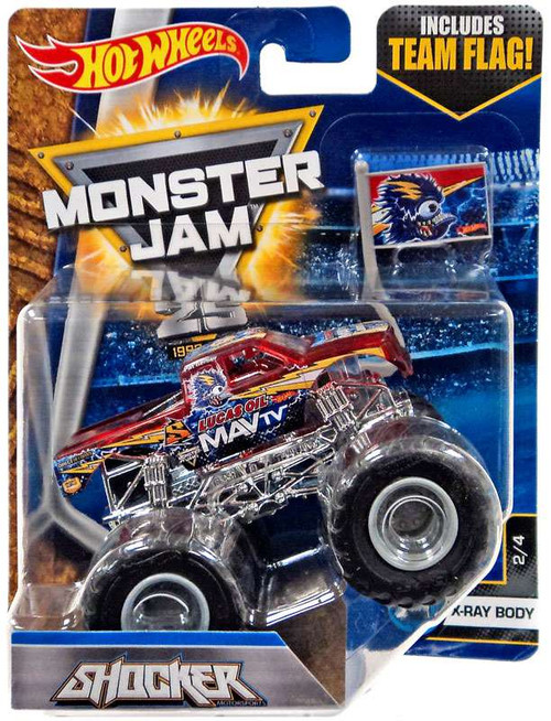 Hot Wheels Monster Jam 25 Shocker Die-Cast Car #2/4 [X-Ray Body]
