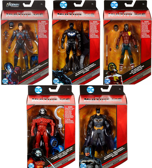 DC Multiverse Rookie Series Batman, Reaper, Nightwing, Robin & Atom Set of 5 Action Figures
