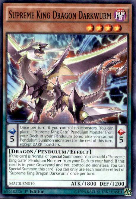 YuGiOh Maximum Crisis Common Supreme King Dragon Darkwurm MACR-EN019