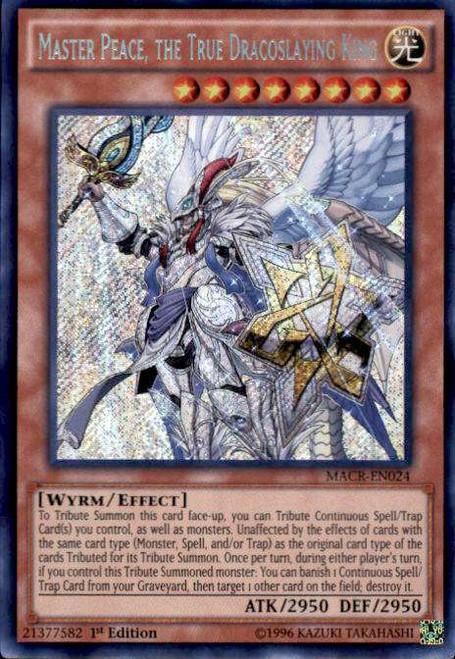 YuGiOh Maximum Crisis Secret Rare Master Peace, the True Dracoslaying King MACR-EN024