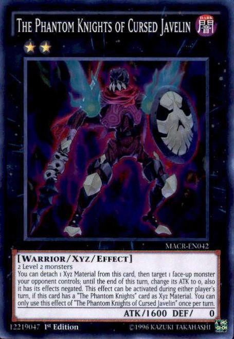 YuGiOh Maximum Crisis Super Rare The Phantom Knights of Cursed Javelin MACR-EN042