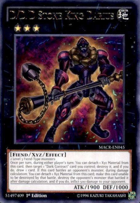 YuGiOh Maximum Crisis Rare D/D/D Stone King Darius MACR-EN045