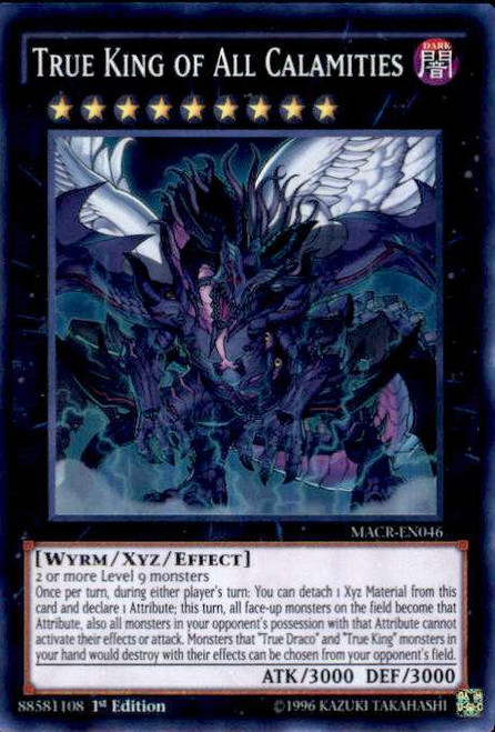 YuGiOh Maximum Crisis Super Rare True King of All Calamities MACR-EN046