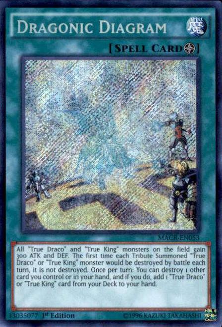 YuGiOh Maximum Crisis Secret Rare Dragonic Diagram MACR-EN053