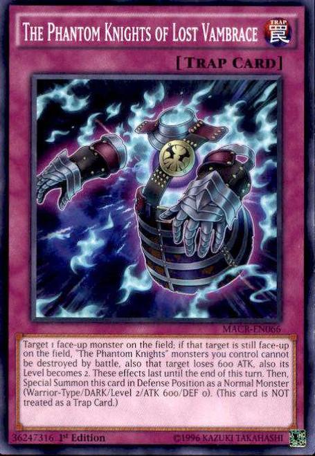 YuGiOh Maximum Crisis Common The Phantom Knights of Lost Vambrace MACR-EN066
