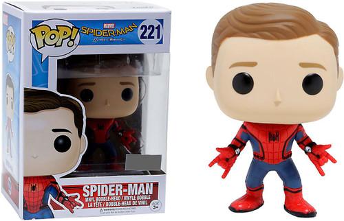 Funko Spider-Man: Homecoming POP! Marvel Spider-Man Exclusive Vinyl Bobble Head #221 [Unmasked, Regular Suit]