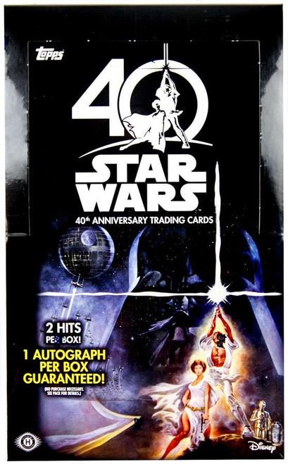 Star Wars Topps 40th Anniversary Trading Card HOBBY Box [24 Packs]