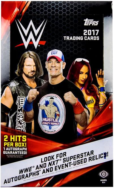 WWE Wrestling Topps WWE 2017 Trading Cards HOBBY Box [24 Packs]