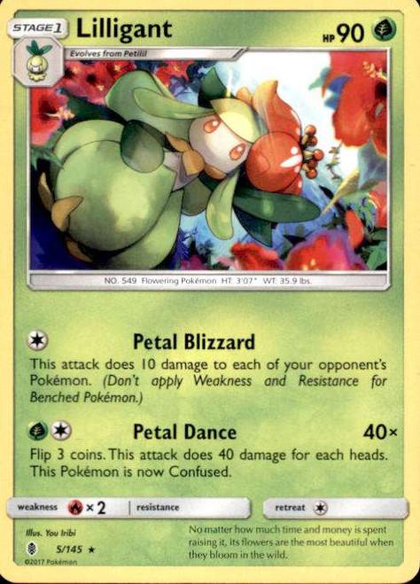 Pokemon Sun & Moon Guardians Rising Rare Lilligant #5