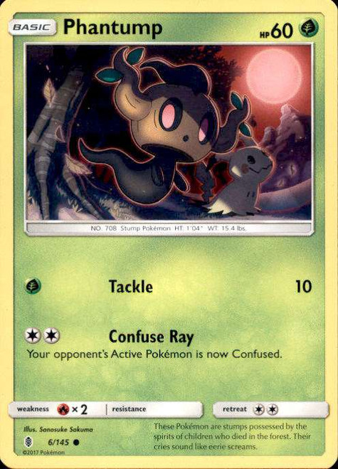 Pokemon Sun & Moon Guardians Rising Common Phantump #6