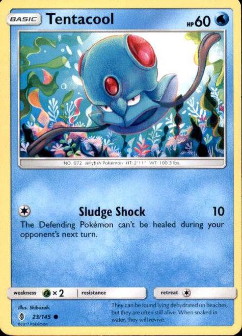 Pokemon Sun & Moon Guardians Rising Common Tentacool #23