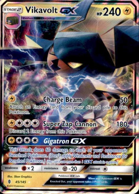 Pokemon Sun & Moon Guardians Rising Ultra Rare Vikavolt GX #45