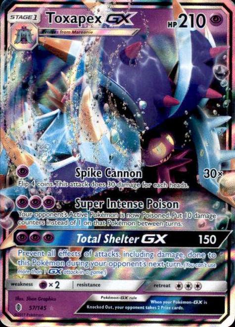 Pokemon Sun & Moon Guardians Rising Ultra Rare Toxapex GX #57
