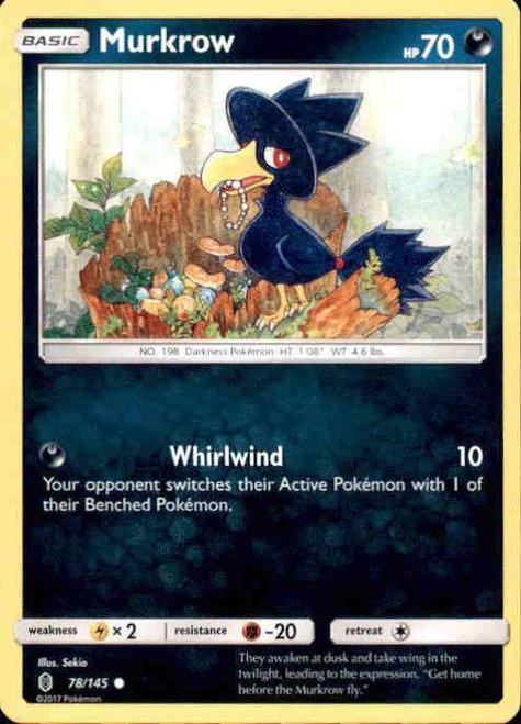 Pokemon Sun & Moon Guardians Rising Common Murkrow #78
