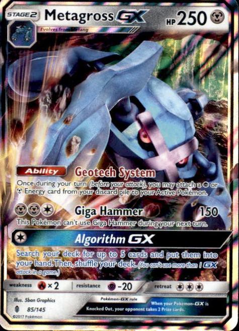Pokemon Sun & Moon Guardians Rising Ultra Rare Metagross GX #85