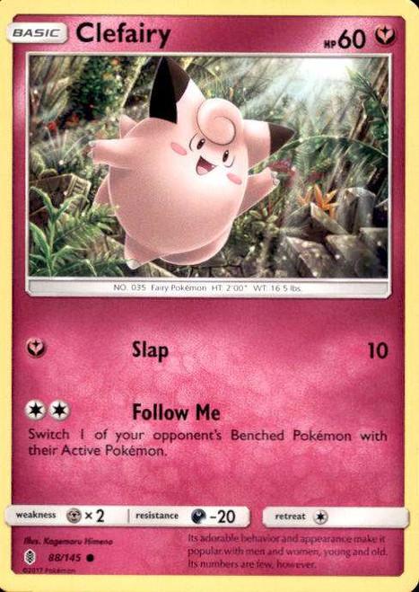Pokemon Sun & Moon Guardians Rising Common Clefairy #88