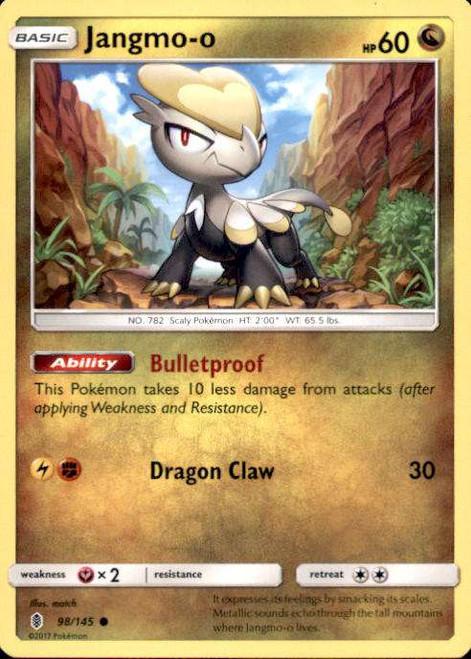 Pokemon Sun & Moon Guardians Rising Common Jangmo-o #98
