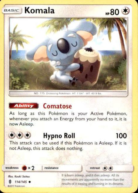 Pokemon Sun & Moon Guardians Rising Uncommon Komala #114