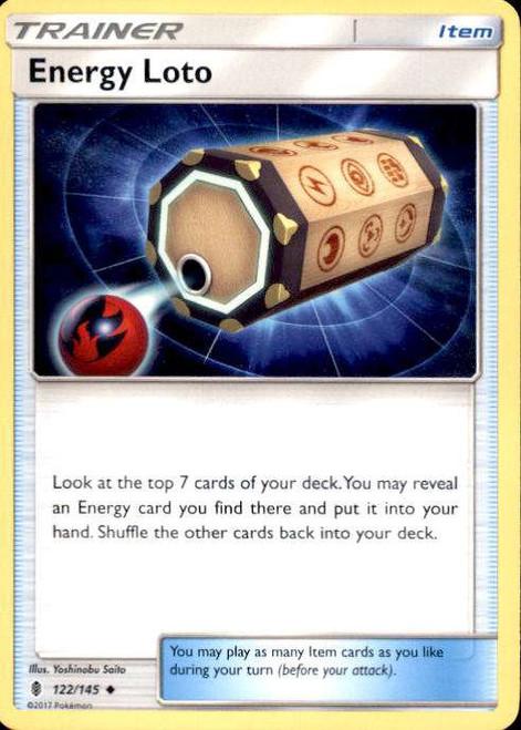 Pokemon Sun & Moon Guardians Rising Uncommon Energy Loto #122