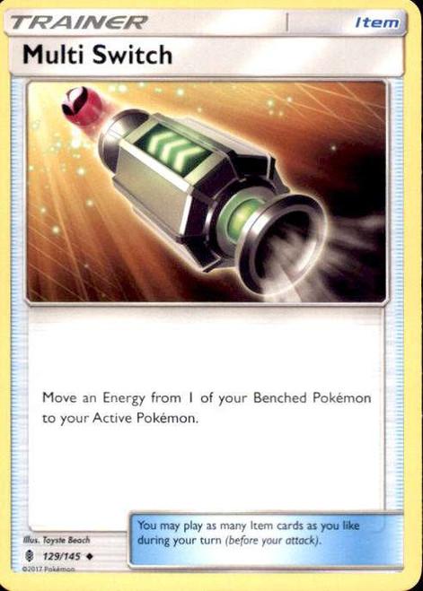 Pokemon Sun & Moon Guardians Rising Uncommon Multi Switch #129
