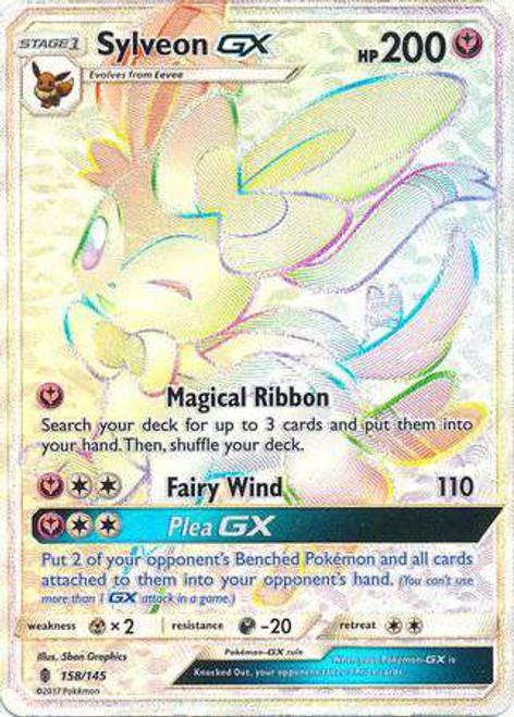 Pokemon Sun & Moon Guardians Rising Hyper Rare Sylveon GX #158