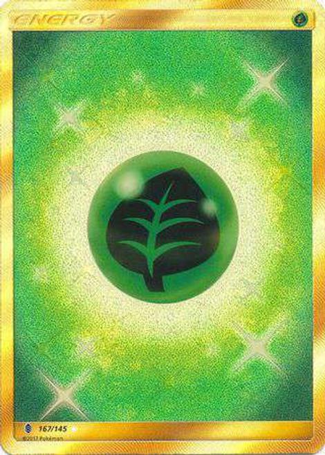 Pokemon Sun & Moon Guardians Rising Secret Rare Grass Energy #167