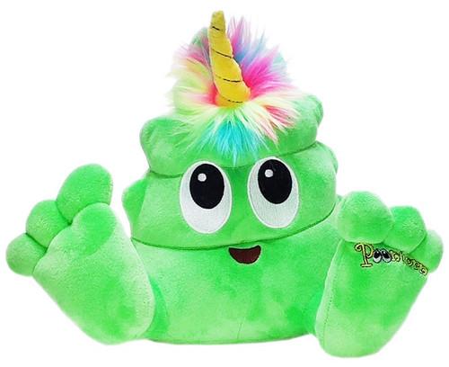 Poonicorn Plushiez Neon Green Plush Emoji