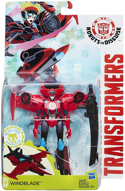 Transformers Robots in Disguise Mini-Con Weaponizers Windblade Warrior Action Figure
